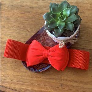 2 for 15! Vintage Inspired Red Bow Belt